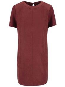 Červenohnědé šaty s krátkým rukávem Dorothy Perkins