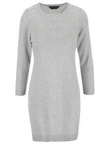 Šedé svetrové šaty Dorothy Perkins