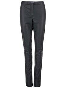 Pantaloni negri din imitație de piele Dorothy Perkins