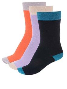 Černo-oranžové ponožky v sadě tří párů OJJU