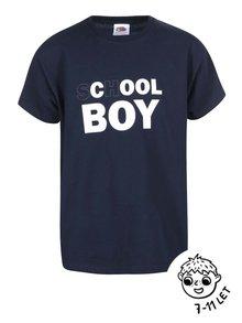 Tmavě modré klučičí triko ZOOT Kids School Boy