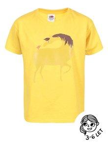Žluté holčičí tričko ZOOT Kids Kůň