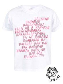 Bílé holčičí triko ZOOT Kids Haha