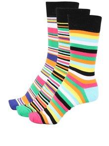Sada tří pánských barevných pruhovaných ponožek Oddsocks Brian