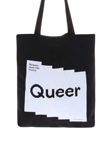 """""""Dobrá"""" černá plátěná taška pro Mezipatra"""