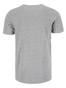 Šedé tričko s krátkým rukávem Jack & Jones Basic