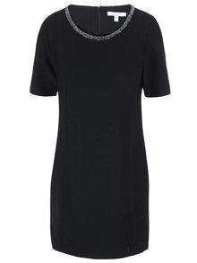 Čierne šaty so zdobením okolo krku Fever London Imogen