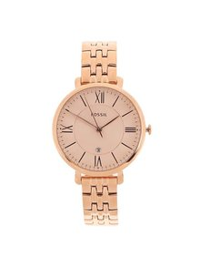 Dámske hodinky v ružovo-zlatej farbe s nerezovým remienkom Fossil Jacqueline