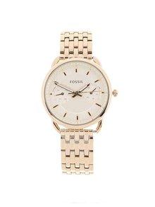 Dámské hodinky ve zlaté barvě s nerezovým páskem Fossil Tailor