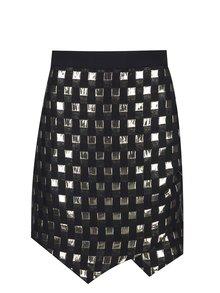Čierna sukňa s detailmi v zlatej farbe Closet