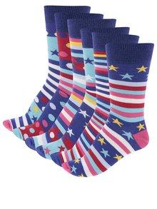 Sada šesti pánských ponožek Oddsocks Fine&Dandy