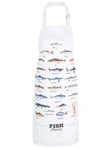 Șorț crem cu imprimeu cu pești Gift Republic