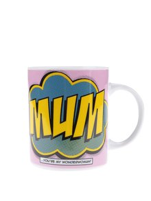 Cană roz din porțelan cu imprimeu Gift Republic Mum