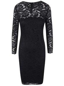 Čierne čipkované šaty s dlhými rukávmi AX Paris