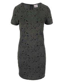 Kaki šaty so vzorom VERO MODA Avian New