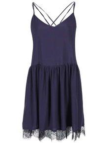 Tmavě modré šaty na ramínka Girls on Film