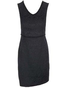 Čierne vzorované šaty s králikovým pásom Fever London