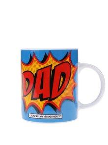 Modrý porcelánový hrnček s potlačou Gift Republic Dad