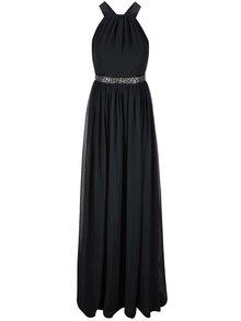 Rochie neagră cu talie decorativă GODDIVA