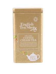 Bio čaje v plechové dóze English tea shop Coffee Cream