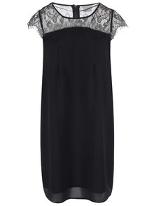 Čierne šaty s čipkovými ramenami VERO MODA Marie
