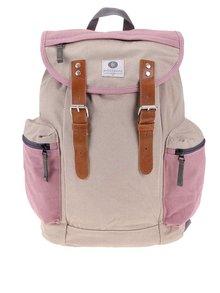 Růžovo-béžový batoh s kapsami Ridgebake Mid Liam