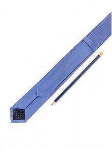 Modrá hodvábna kravata Selected Homme Plain