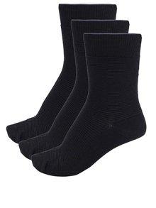 Súprava troch párov čiernych ponožiek Selected Homme