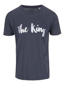 Šedomodré pánské triko ZOOT Originál The King