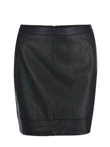 Čierna koženková sukňa Dorothy Perkins Curve