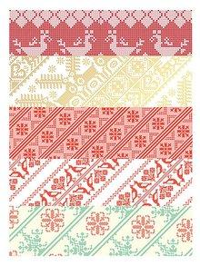 Kolekcia piatich archov vianočného baliaceho papiera Pretty Paper