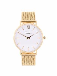 Unisex hodinky v zlatej farbe CLUSE Minuit