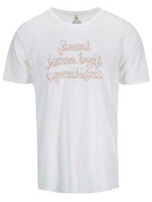 """""""Dobré"""" bílé pánské tričko s potiskem pro OPU a UNHCR"""
