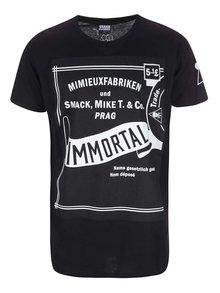 Černé pánské triko Smack Immortal by Anna Mimieux