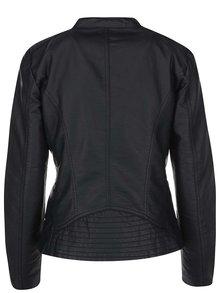 Čierna koženková bunda ONLY Freya
