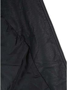 Jacheta biker neagra din piele sintetica ONLY Freia