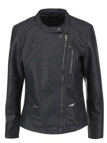 Jachetă gri închis ONLY Freia din piele sintetică