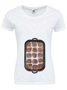 """Tricou alb ZOOT Original """"I love my six-pack"""" din bumbac pentru femei"""