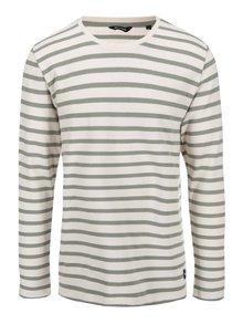 Zeleno-krémové pruhované tričko ONLY & SONS Newmar