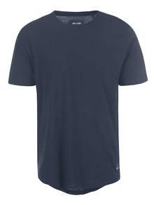 Tricou bleumarin ONLY & SONS Curved din bumbac