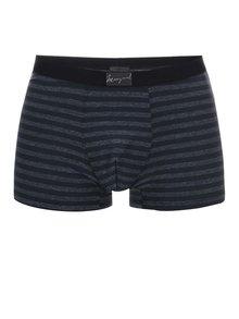 Tmavosivé pruhované boxerky Marginal