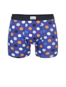 Modré boxerky s farebnými bodkami  Happy Socks Big Dot