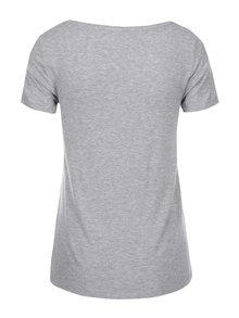 Svetlosivé tričko s guľatým výstrihom ONLY Jewel