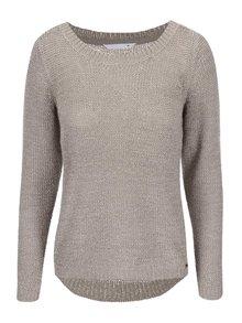 Sivohnedý pletený sveter ONLY Geena