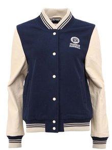 Jachetă albastră de damă Franklin & Marshall cu mâneci din piele