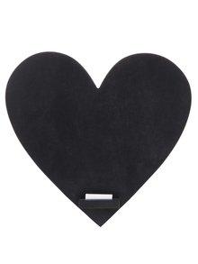 Čierna tabuľa v tvare srdca Sass & Belle