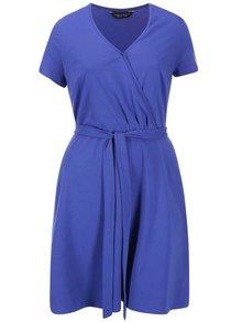 Modré překládané šaty Dorothy Perkins Curve