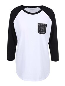 "Bluza alb negru pentru femei ZOOT Original ""Lovestory"""