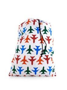 Sac de rufe alb cu avioane colorate pentru călătorie KIKKERLAND