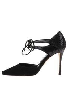 Pantofi cu toc negri Dune London Charleen